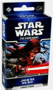 Star Wars LCG: Join Us or Die Force Pack Card Game NIB NM FREE SHIPPING