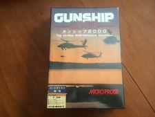 PC98 Gunship 2000 - 5.25 DISK / Microprose no FM TOWNS PC88 MSX Amiga X68000