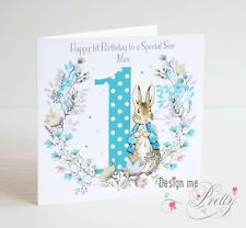 PERSONALISED PETER RABBIT Birthday Card - Child's Son Grandson Boys 1 2 3 4 5 6