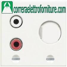 BTICINO AXOLUTE bianco ingresso RCA 2 moduli HD4560