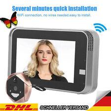 "4.3"" Doorbell LCD Video WiFi Türklingel 166° Kamera HD PIR Nachtsicht Türspion E"