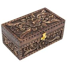 Nirvana-Class 8 Inch Jewelry Trinket Box Wooden Small Square Keepsake Box