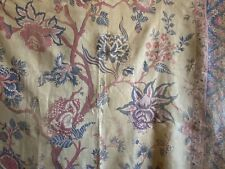Beautiful Rare 19th Century French Printed Linen Exotic Floral Fabric