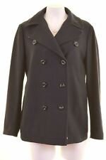 MARINA YACHTING Womens Double Breasted Coat IT 48 XL Navy Blue Wool  BT05