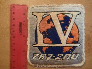 Vintage Embroidered Space Patch-IV/767 200/BOEING FLIGHT TEST PROGRAM-Ex