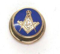 "Masonic 14K Yellow Gold / Enamel Pin 0.7 grams 1/2""  lot 36f7"