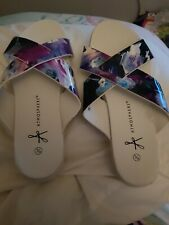 Ladies white Base Sandals Shoes Size 39 UK 6 worn once