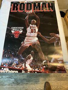 Dennis Rodman NBA STARLINE Chicago Bulls 1996 Wall Poster  Michael Jordan