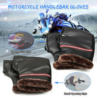 Motorcycle Scooter Handlebar Grip Gloves Muffs Hand Warm Cover Winter