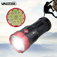 25000LM 10x XM-L T6 LED Powerful Flashlight Torch Work Light Hunting 18650 Lamp