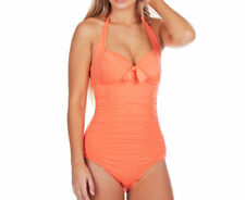 Seafolly Women's Soft Cup Halter Maillot Swimsuit - Nectarine RRP$174.95