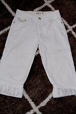 BNWOT size Small  Miss Natalie white capri jeans pants embellished