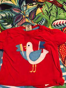 frugi 3-6 months Seagulls T-shirt