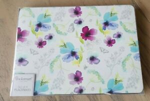 Cooksmart Chatsworth Floral Collection placemats set of four flowers / butterfly