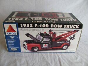 Gearbox 1/24 Scale Die-Cast Citgo 1953 Ford F-100 Tow Truck #75551 NIB