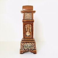 Vtg 1970 Ezra Brooks Grandfather Clock Decanter Bottle Bourbon Whiskey Whisky