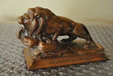LION Sculpture AWARD of MERIT 1948 VINTAGE CAST BRONZE Paperweight