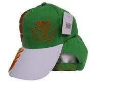 Ireland Irish Harp Erin Go Bragh Orange White Green Hat Cap 3D embroidered