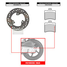 BREMBO REAR DISC (+ BRAKE PADS) - APRILIA ATLANTIC S. 400 (FROM 2006) - 68B40719