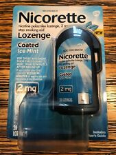 Nicorette Stop Smoking Aid 2 mg Mini Lozenges, Mint 20 Lozenges EXP 11/2021