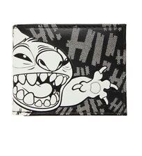 Disney Lilo & Stitch Black & White Embossed  Hi! Bifold Wallet NWT!