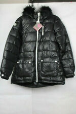 Justice Girls' Black Cozy Puffer Coat - Quilted, Insulated, Water Resistant