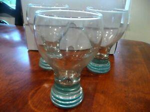 Homer Laughlin Fiesta Ware 3 Beer Glass TEAL Banded 16oz Goblet Tumbler $39