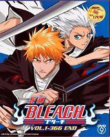 Bleach: Season 1 - 16 (Chapter 1 - 366 End + Bonus: 2 Movie + OVA) ~ All Region