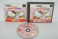 HELO KITTY NO OSYABERI ABC Ref/ccc PS1 Playstation Japan Game p1