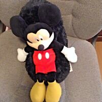 "Disney Hideaway Pets Plush MIckey MOuse 16"" Stuffed Animal Toy rolls into ball"