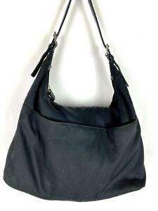 COACH Black Nylon & Leather Hobo Bag Shoulder Purse Mercer Handbag 7422