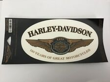 Harley Davidson 110th anniversary large oval decal