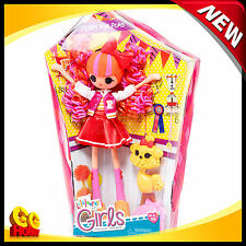 "NEW Lalaloopsy Girls Peppy Pom Poms 10"" Doll with Comb and Pet Dog"