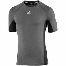 Adidas Men's Fitted Short Sleeve Tee Grey 2XL NWT