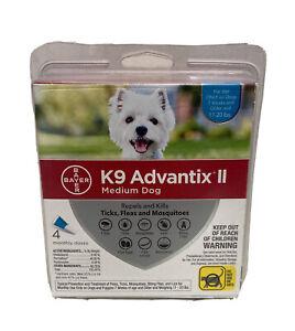 Bayer K9 Advantix II Flea Tick Mosquito Treatment for Medium Dogs 4 Doses