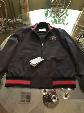 100% AUTHENTIC GUCCI JACKET WITH CREST LOGO GREEN & RED SIZE: 50