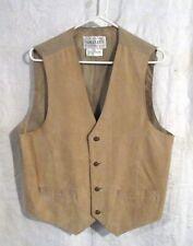 Men's Saddlery Pig Suede Vest,Tan, size M