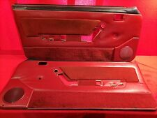 87-93 Ford Fox Body Mustang 5.0L RED Door Panels Manual Windows 88 89 90 91 92