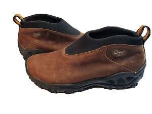 Merrell Orbit Moc Men's Dark Brown Suede Shoes Slip On Loafers 9.5 EUC