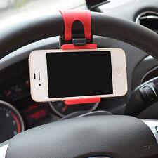 Support Téléphone Smartphone Gps Universel Avec  Fixation Volant Voiture Neuf