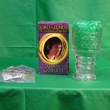 Froto the Hobbit Lord of the Rings Glass Goblets from Burger King Light up Base