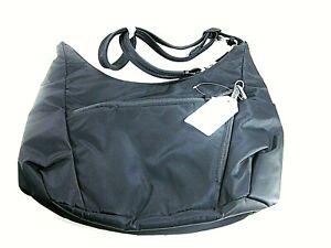 eBags Anti-Theft RFID Black Hobo Travel Handbag New