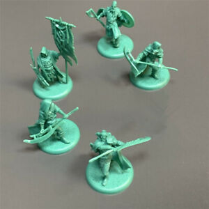 6PCS A Song of Ice & Fire Greyjoy Heroes Minis Game of Thrones Board Game Model