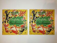 Des Fables et Des Chansons / Rares livres-disques vinyle 33T Vintage (1956)