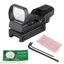 Red Green Illuminated Dot Laser Sight Scope Air Rifle Gun Hunting Telescopic US