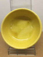 Vintage Signed McCoy Pottery Yellow  speckled USA salad or cereal bowl good cond