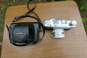 Cased Yashica Minister III 35mm Film Camera Yashinon F2.8 45mm Lens