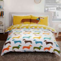 SAUSAGE DOG DOUBLE DUVET COVER SET 2 in 1 NEW BEDDING