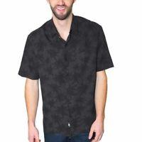Nat Nast Hawaiian Silk Blend Camp Shirt SIZE XL $135 Palm Trees Black