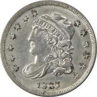 1837 Large 5 Capped Bust Half Dime Choice About Uncirculated 90% Silver 5c Coin